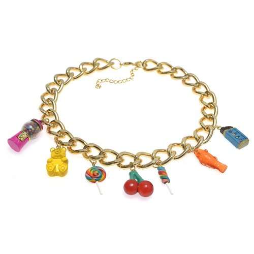 Dylan's Candy Bar Multi-Candy Charm Necklace - Gold