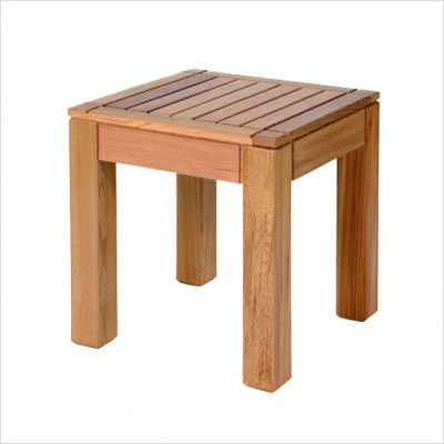 Square Western Red Cedar End Table Finish: Natural