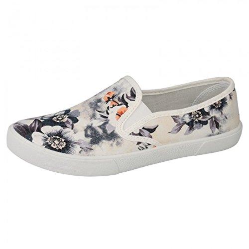 Spot-On-Zapatillas-casual-sin-cordones-con-estampado-floral-para-mujer