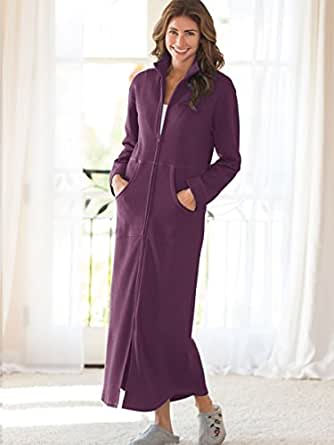 Norm Thompson Women S Petite Sweatshirt Robe At Amazon
