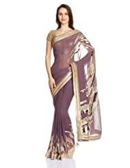 Satya Paul Gorgette Saree With Blouse Piece - B00IJXS214