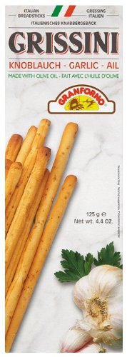 Granforno Grissini Garlic Breadsticks 125 g (Pack of 12)