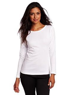 Duofold Women's Mid Weight Wicking Crew Shirt, White, Large