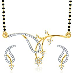 Sukkhi Exotic Gold And Rhodium Plated CZ Mangalsutra Set for Women