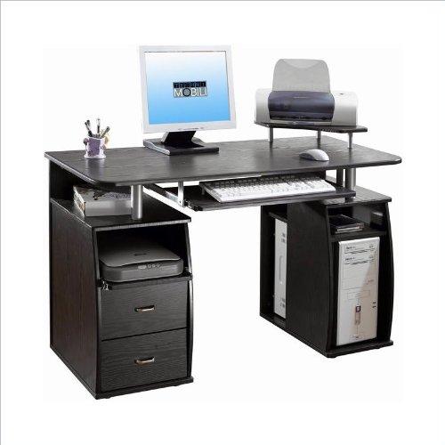 TECHNI MOBILI Atua Wood Computer Workstation in Espresso