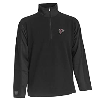 NFL Mens Atlanta Falcons 3 4 Zip Fleece Pullover by Antigua