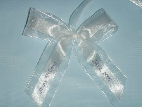 25 Personalized Custom Printed Ribbons Weddings Bridal Baby Showers front-1035914