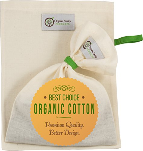 Organic Cotton Cold Brew Coffee Bags (2 Pack) - Super Fine Filter & Smart Drawstring Free Design for No Grounds or Silt - Safe to Boil Teas or Wort - Food Strainer for Nut Milks, Yogurt, Juice & More (Super Fine Coffee Filter compare prices)