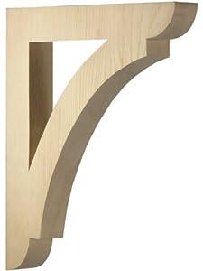 Large pine shelf or porch bracket 12 x 10 1 2 for Large exterior corbels
