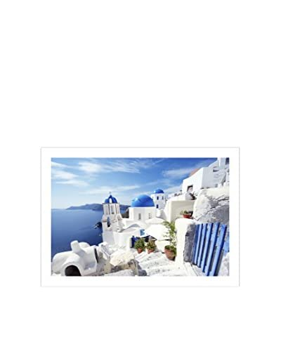 Photos.com by Getty Images Santorini Bright Morning Blue Gate Artwork On Framed Paper