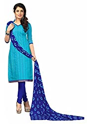 RK Exports Sky Blue Dress Material