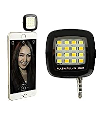MINI Portable 16 LED Spotlight smartphone led flash fill light for iPhone and Android Devices for External Flash Fill Light Self (Assorted Colours)