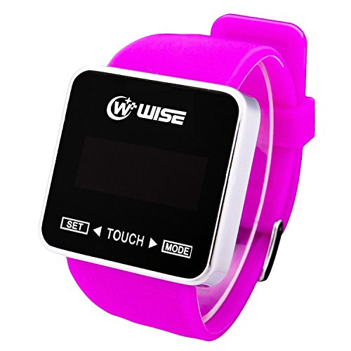 Wise® Boys Girls New Fashion Touch Screen Led Digital Waterproof Casual Sports Wrist Watches (Purple)