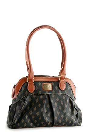 Patzino Signature Diamond Edition women's Brown Designer Inspired Shopper Double Handle Hobo Tote Bag Purse Satchel Handbag w/Shoulder Strap For Everyday Use. (BO44)