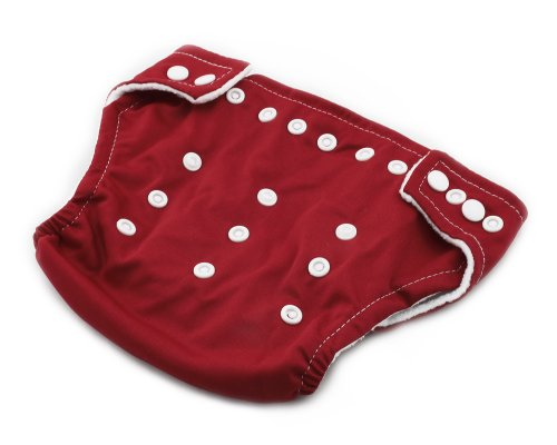 BONAMART ® New Adjustable Size Unisex Reusable Baby Girl Boy Washable Cloth Nappy Diaper Red