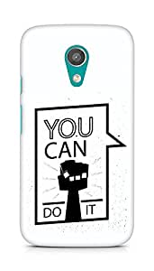 Amez You can Do It! Back Cover For Motorola Moto G2