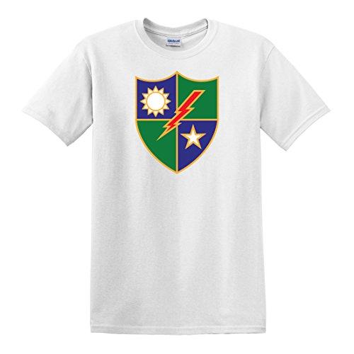 fagraphix Men's US Army 75th Ranger Regiment Distinctive Unit Insignia T-Shirt XXX-Large White