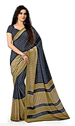 Design Willa Smooth feel Art crepe Sari (DWPC021,Grey)