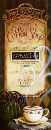 (8X20) Lisa Audit Coffee Shop Menu Art Print Poster
