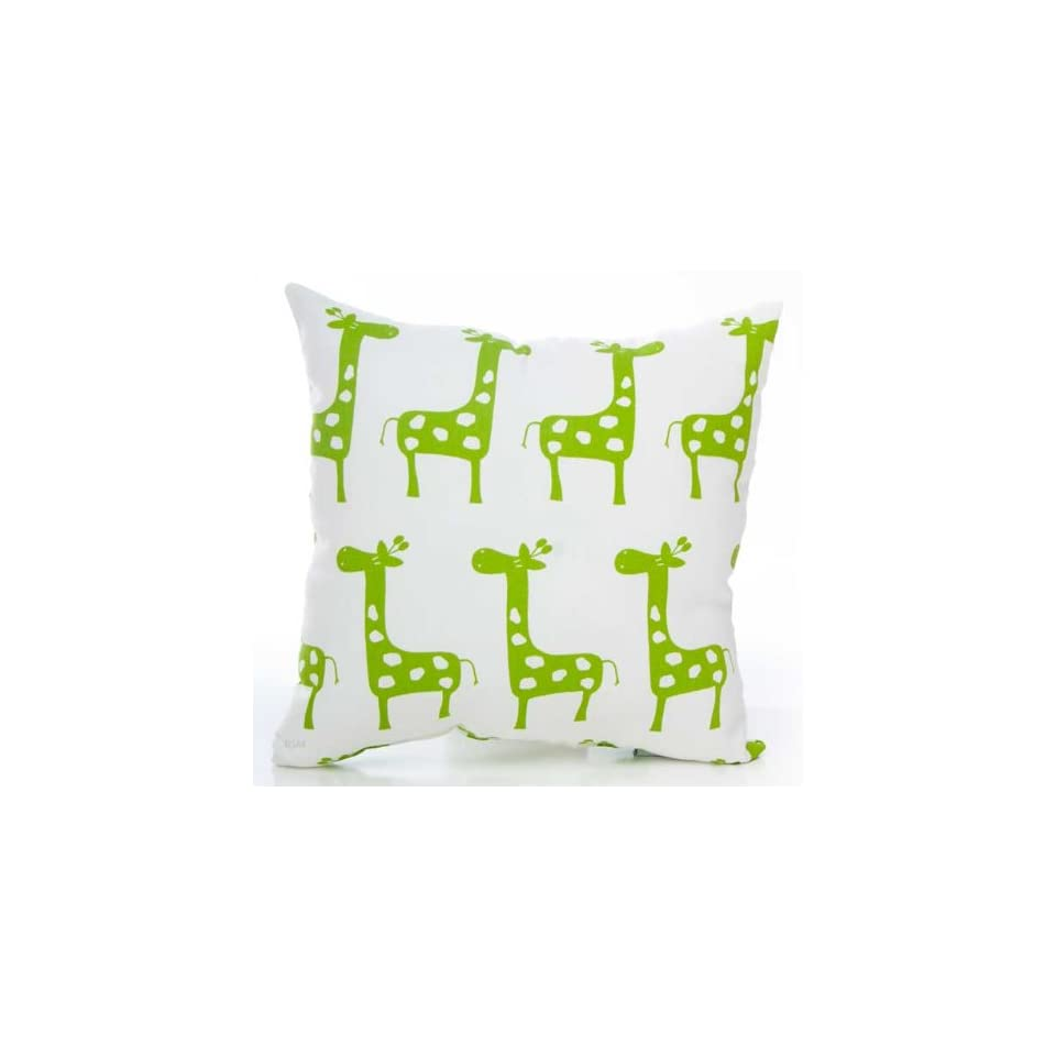 Ellie & Stretch Green Giraffe Pillow