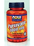 NOW Foods Sports Pyruvate -- 1000 mg - 90 Tablets
