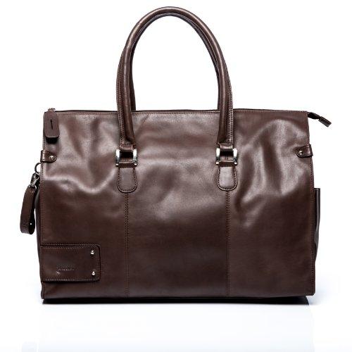 3dbd4a3ecb BACCINI sac de voyage LUCA - grand - besace weekend - fourretout marron.