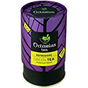 Octavius 100gms Whole Leaf Mint Tea In Vibrant Gift Cans