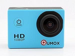 QUMOX SJ4000 - Cámara de Deporte para casco Impermeable, Video de Alta definición 1080p 720p, Azul