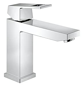 grohe 23446000 eurocube bathroom tap with smooth body medium high