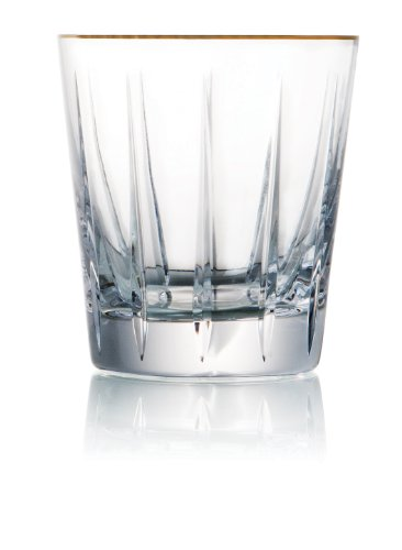 Trump Home 9-Ounce Elmsford  Rogaska Crystal Double Old Fashioned Glass, Set of 2