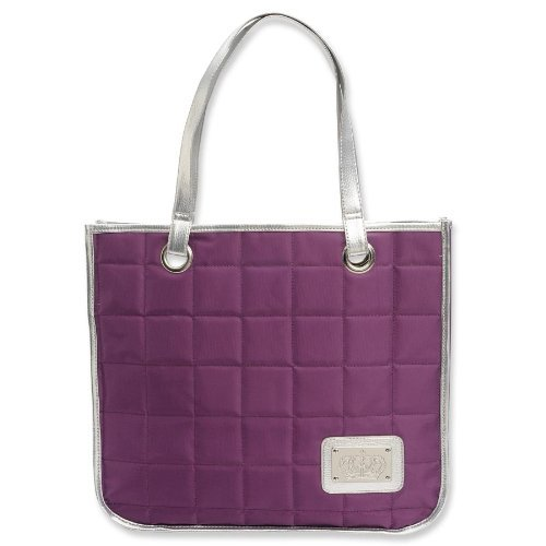 enesco-redeemed-from-gregg-gift-crown-on-quilted-purple-tote-bag-15-inch