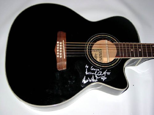 Nickel Creek Signed 12-String Acoustic Electric Guitar Psa/Dna