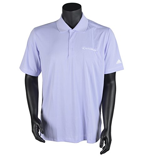adidas Golf Men's Puremotion Solid Jersey Polo, Avery/White, Large