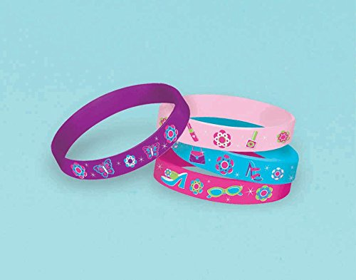Glitzy Girl Rubber Bracelets (4ct) - 1