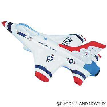 "Set of Two(2) Inflatable Toy US Thunderbird Jet Planes - 18"" Party Decoration / Favor / Prize / Gift / Stocking Stuffer"