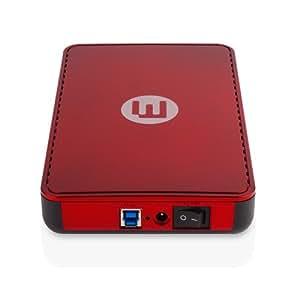 """Memup Kiosk LS séries Disque dur externe 3,5"""" USB 3.0 2 To Rouge"""
