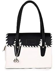 Butterflies Women's Handbag Multi Color ( Black / White )