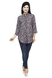 Wisstler Women's Multi Color Rayon Tunics Size : X-Large