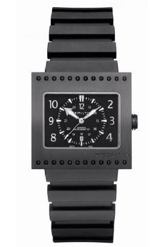 Hamilton Khaki Code Breaker Auto Titanium Black Dial Men's Watch #H79585333