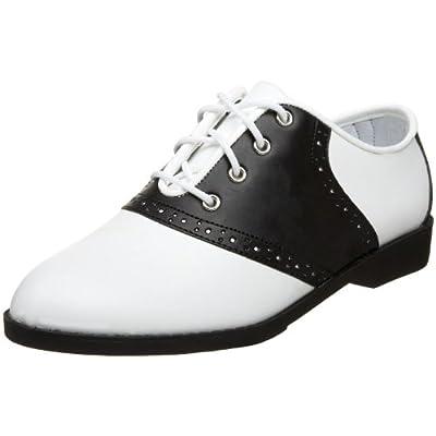 Ladies Saddle Shoes 1950's Costume Shoes 1950's Saddle Shoes White/Black