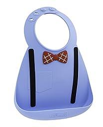 Baby Bib- Scholar Blue