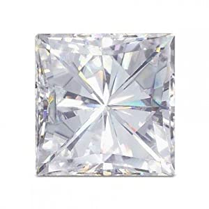 Moissanite Square Brilliant 2.5 mm .12 carats 69 facets