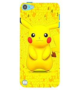 Evaluze pikachu Printed Back Case Cover for APPLE IPOD TOUCH 5