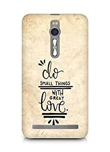 AMEZ do great things with love Back Cover For Asus Zenfone 2