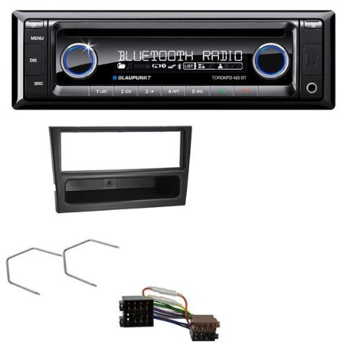 Blaupunkt-CD-MP3-USB-SD-Bluetooth-AUX-Autoradio-fr-Opel-Corsa-C-Combo-Meriva-Omega-B-Vectra-C-ISO-schwarz