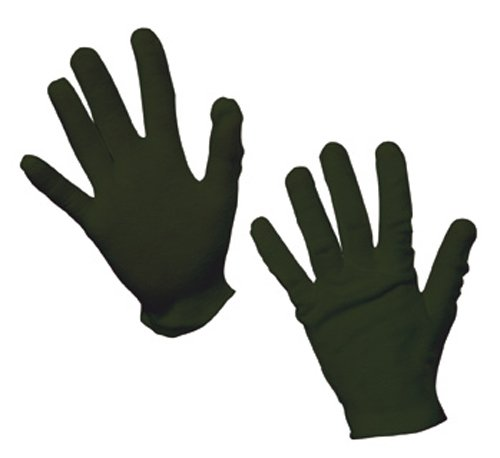 Rubies Child's Black Cotton Gloves