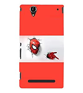printtech Superhero cool Back Case Cover for Sony Xperia T2 Ultra::Sony Xperia T2 Ultra Dual