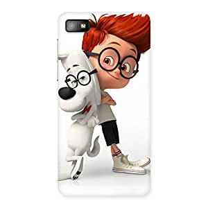 Ajay Enterprises Fill Cute Boy and Dog Back Case Cover for Blackberry Z10