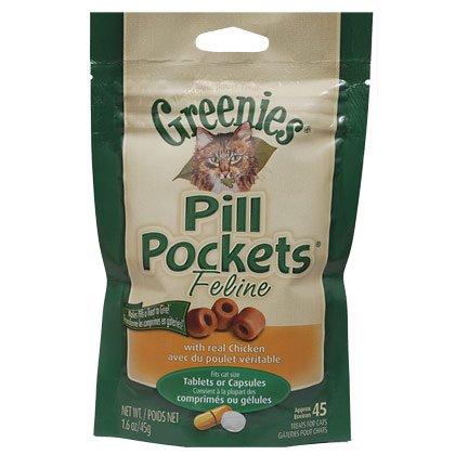 Greenies Pill Pockets Feline, Chicken Flavor, 45 Treats