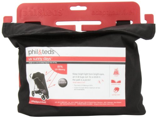 phil&teds UV Sunny Days Mesh Cover for Smart Single Stroller - 1